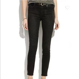 Madewell High Rise Black Skinny Jeans Size 27